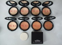 Free Shipping By DHL/EMS 36PCS/LOT Hot Sale Brand Make Up Studio Fix Powder Plus Foundation 15g +Powder Puff