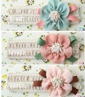 3 colors Fashion Design Baby Girls Kids Infants Children Newborn Big Flower Headband Headwear Hair Accessories  A+