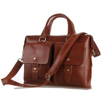 2014 New Russia Style Men's Crazy horse leather handbags brown business bag laptop bags