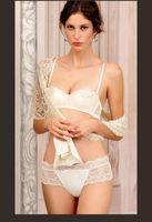 wholesale Italy brand design very hot sexy bra set white lingerie set lace women underwear set ladies bra brief set