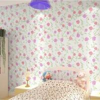 Flower Wall Paper Sticker Desktop Wallpaper modern for walls kids room papel de parede rolls pvc floral print bedroom 10 meters