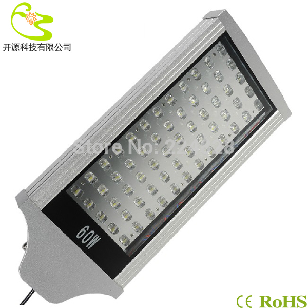 Free shipping 60W led road lamp 85-265v 6000lm 3 years warranty outdoor waterproof decorative street poles led street light 60w(China (Mainland))