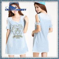 Summer dress 2014 casual women maxi party tiger print off the shoulder o-neck short A-Line plus size S-XL vintage dresses