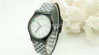2014 new watch Wristwatches black flower  fashion watch women dress watches quartz watch + free shipping