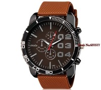 free shipping  2014 new fashion brand womage 1091 Men's Analog Watch with Silicone Strap sports quartz watches