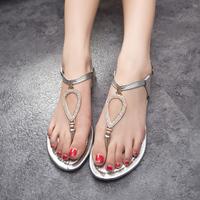 2014 princess rhinestone fashion trend women hasp flip-flop sandals flat shoes,SHO2148