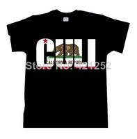 Flag Bear Republic Shirt Socal Norcal California Cali Letters Black t shirt