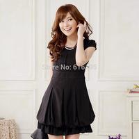Free Shipping Uncommon women's dress black 2014 New