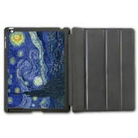 Van Gogh Vintage Oil Painting Starry Night Protective Smart Cover Leather Case For iPad 2 3 4/iPad 5 Air/iPad Mini