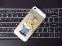 50pcs/lot Fashion Simpson Hard Case Back Cover For iphone 5 5s   Hot