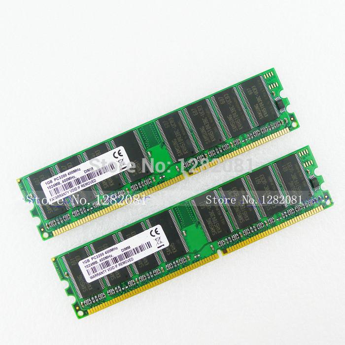 New High Density 2GB 2x1GB PC3200 DDR400 184pin DIMM Desktop Memory RAM(China (Mainland))
