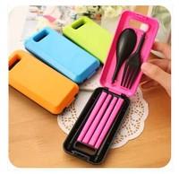 Min Order $15(mixed order) portable  tableware three piece/folding chopsticks/fork/spoon