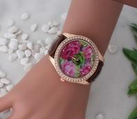 2014 Fashionable Woman Peony Pattern Watches, Ms Bohemian Girl Dress Watch Fashion Quartz Watch