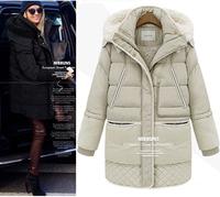 New 2014 Big Yards Thick Lamb'S Wool Jacket Winter Jacket Female Models In Long Down Jacket Large Size Winter Jackets Women XXL