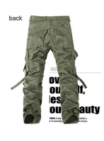 2014 Free Shipping Wholesale New Mens Casual tactical Pants Military Army Cargo Camo Combat Work Pants Trousers 6 Color 10 Size