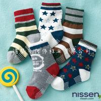Winter Stars Stripe Child Socks Children Anti Slip Socks Boy Girl Socks Baby Socks 20Pairs/Lot Free Shipping
