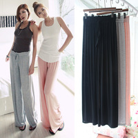 2014 New Woman's Pants Thin Wide Leg Pants Sports Trousers Capris Modal Loose Cotton Yoga Pants Casual Trouser For Women 5 Color