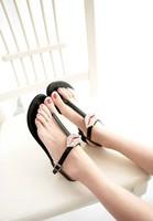 2014 summer princess rhinestone fashion women sexy red lips pinch flat sandals,SHO2146