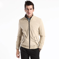 2014 New Men's Brand Spring Autumn Fashion Cotton Jacket Business Casual Male Coats Size XL Outerwear For Man Good Quality