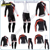 Castelli Sport wear Promotion 2014!Fatory full Sleeve outdoor Cycling Clothing/suitable Riding Jacke long BIB bicycle pant 4NS37