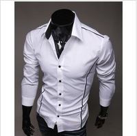2014 Wholesale New Arrival Hot Sale Free Shipping New Mens Shirts Casual Slim Fit Stylish Long Sleeve Man Dress Shirts