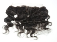 "Brazilian Lace Frontal 13x4"" Bleached Knots Virgin Frontal Piece 10-20""Body Wave Full Lace Frontal"