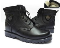 2014 New Winter Men's Martin boots,Genuine Leather With Wool Warm Snow boots, Men military boots