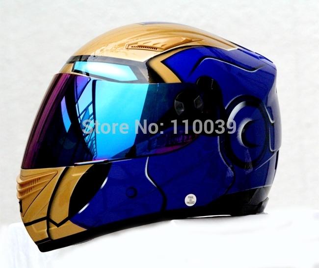 Masei 830 IRON-MAN BLUE DOT & ECE LORENZO HJC ARAI HELMET.Free Shipping!!(China (Mainland))