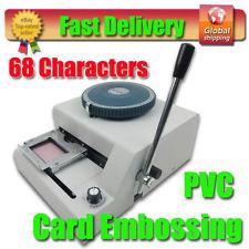 Guarantee 100% New 68 code Heat Press PVC Card Printer Embosser Machine, Manual Plastic Card ID VIP Embossing Machine(China (Mainland))