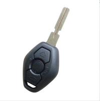 Remote Key Case Fob 3 BTN 4 Track for BM-W 3 5 7 SERIES Z3 Z4 X3 X5 M5 325i E38 E39 E46 Shell HU58 (BackSide With Words 433MHZ)