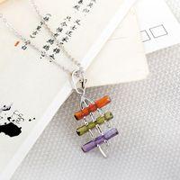 Punk Hand Multi Color Zircon Crystal White Pendant Jewelery  63204
