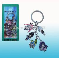 10pcs/lot Anime Dating War Phone Strap Metal Keychain Bag Lanyards