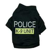 2014 New High Quality Pet Supplies/Fashion Dog Product Dog Clothing/Cute Police Letter Dog Shirt