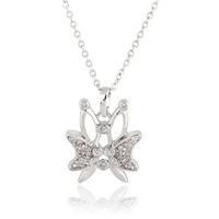 Women Gold Platinum Plated Butterfly Crystal Zircon 24mm  63205-63206