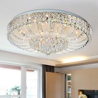 Round modern crystal lamp living room lamp bedroom Ceiling Mounts illuminations Restaurantceiling lights