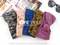 2014 NEW Fashion Knitted Headband For Women Headwear Hair accessories Free shipping Crochet Handmade Band Wholesale Life Show