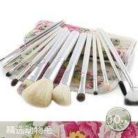 12 roses Wool Cosmetic Brushes Pen Set animal hair makeup brushes tool