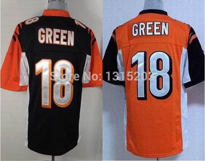 A.J. Green Cheap 18 black,white Elite stitched American Cincinnati Football Jerseys Free shipping+ Dropping Shipping(China (Mainland))