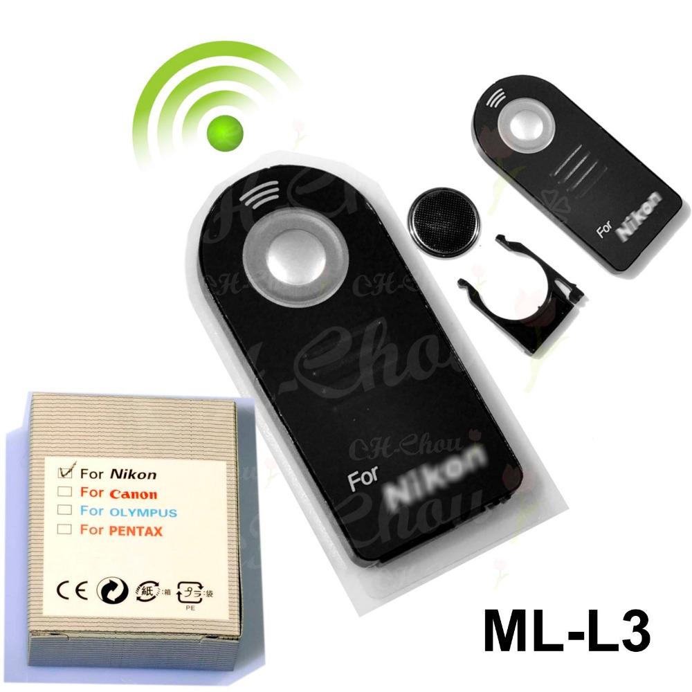 ML-L3 IR Wireless Remote Control For Nikon DSLR D7000 D5100 D5000 D3000 D90 D80 D70S D70 D50 D60 D40 D40X 8400 8800 Camera(China (Mainland))