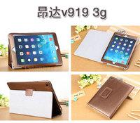 """Onda v919 3g leather protective case cover, Onda v919 9.7"""" tablet protective case, leather stand cover case,free ship"""