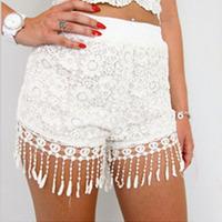 New fashion Womens Celeb Lace Fringed Hem Casual Slim Beach Shorts Hot Pants
