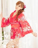 Sexy lingerie sexy flirtatious red kimono uniform temptation role-playing entertainment bar suit costume 85013