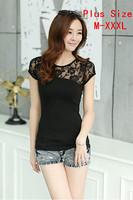 Free shipping 2014 Summer Fashion High Quality Cotton T Shirt Women White Tops Round T-shirts tee shirts for women 38 Models