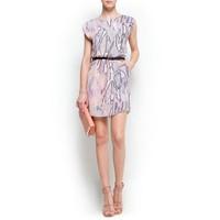 QZ1501 New Fashion Ladies' sexy snake skin print backless Dress elegant O neck sleeveless casual slim brand design dress