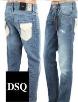 2014 Brand Europe Style Fashion Men Slim Painted Jeans dsq Famous Designer Man D2 Denim Pants Cotton White Packet