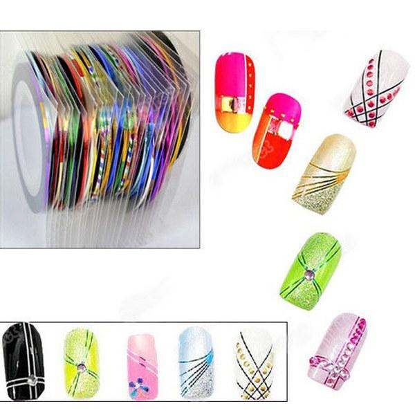 1Set/10pcs Rolls Fashion Striping Tape Line Nail Art Decoration Sticker DIY Tool Gift(China (Mainland))