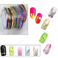 1Set/10pcs Rolls Fashion Striping Tape Line Nail Art Decoration Sticker DIY Tool Gift
