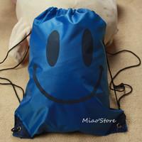 Smiley pattern swimming bag casual wash bag backpack beach bag lovers bag