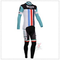 2014 Bianchi black Cycling long sleeve/bib kits/(bib)pants/Cycling clothing /ciclismo/cycling jersey /cycling /wolfbike /bicycle