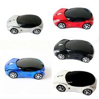2014 New Red/Blue/Black Cool USB Car Shape Wireless Brand Mouse 1600DPI Optical With USB Receive For PC/Laptop